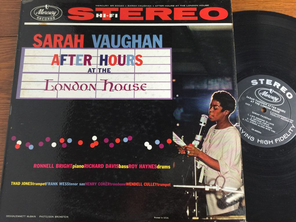 Sarah Vaughan After Hours at the London House album