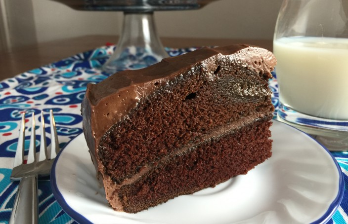 Moist Chocolate Cake Slice