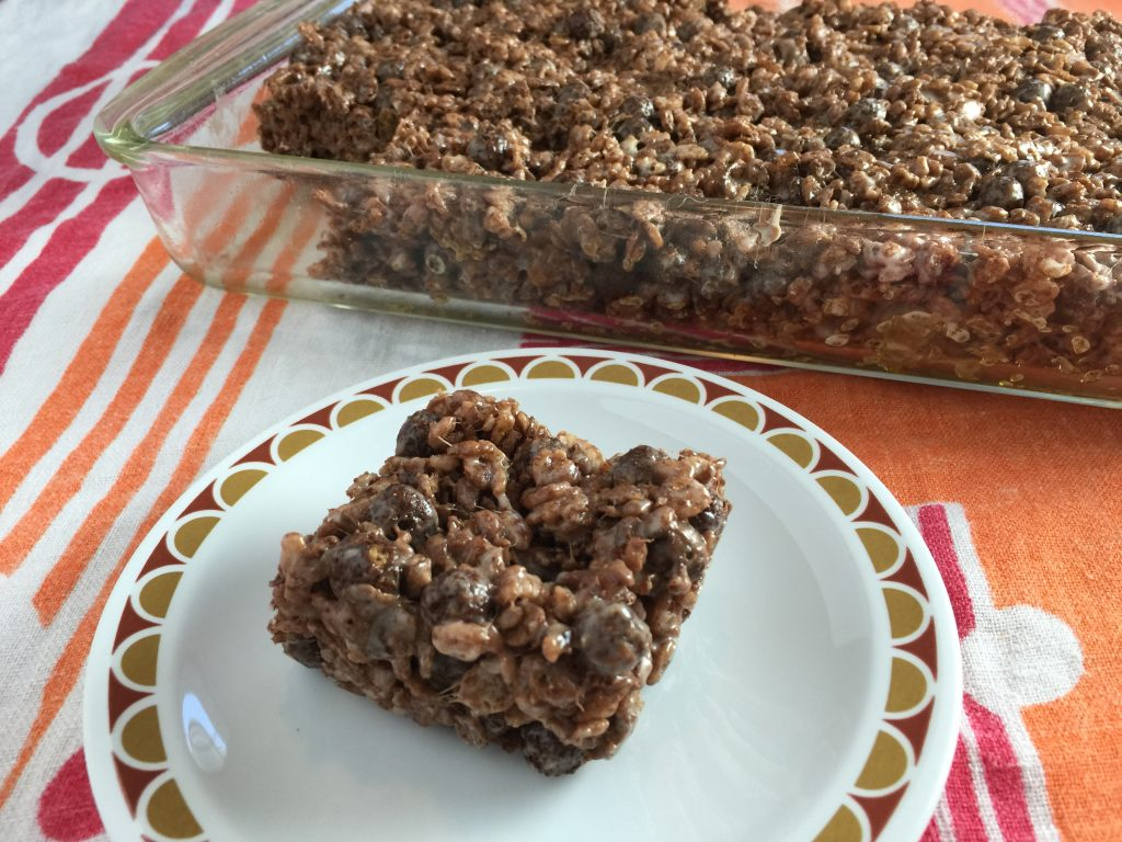 Triple Chocolate Rice Crispy Treat