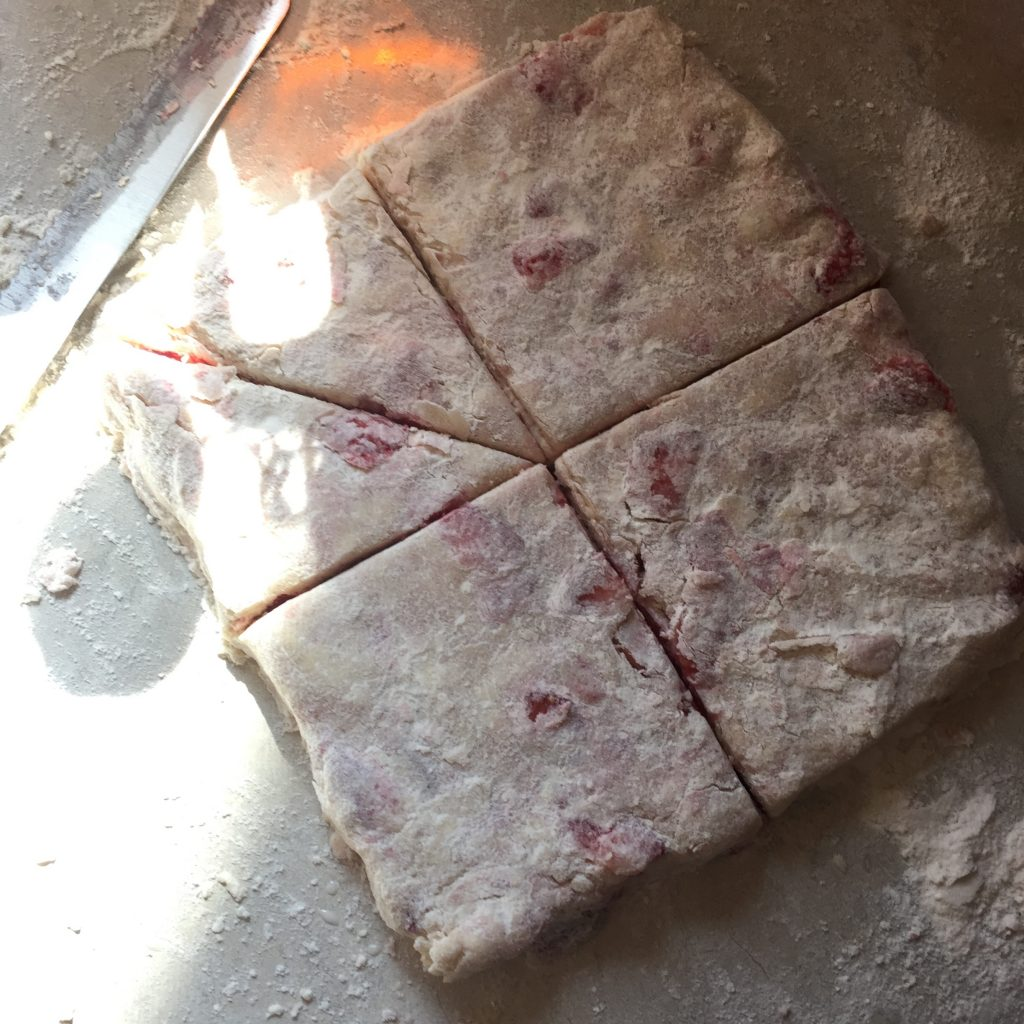 strawberry scone