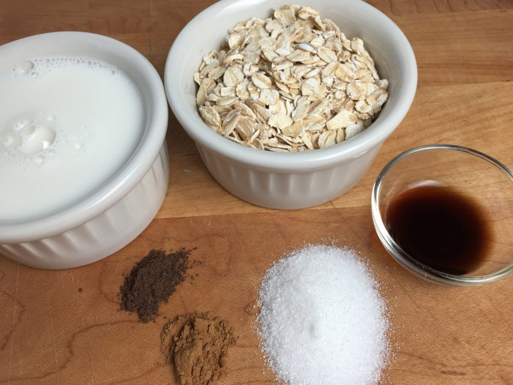 Overnight oatmeal ingredients