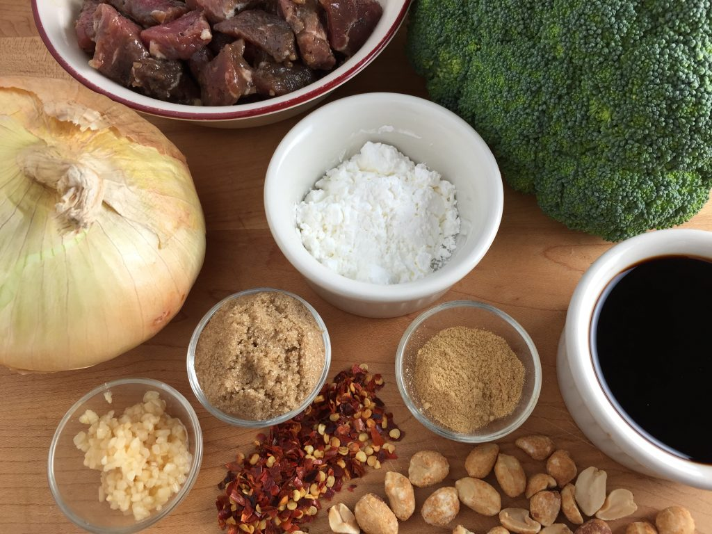 Beef and broccoli ingredients