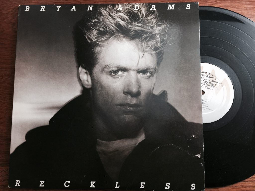 Bryan Adams Reckless vinyl album