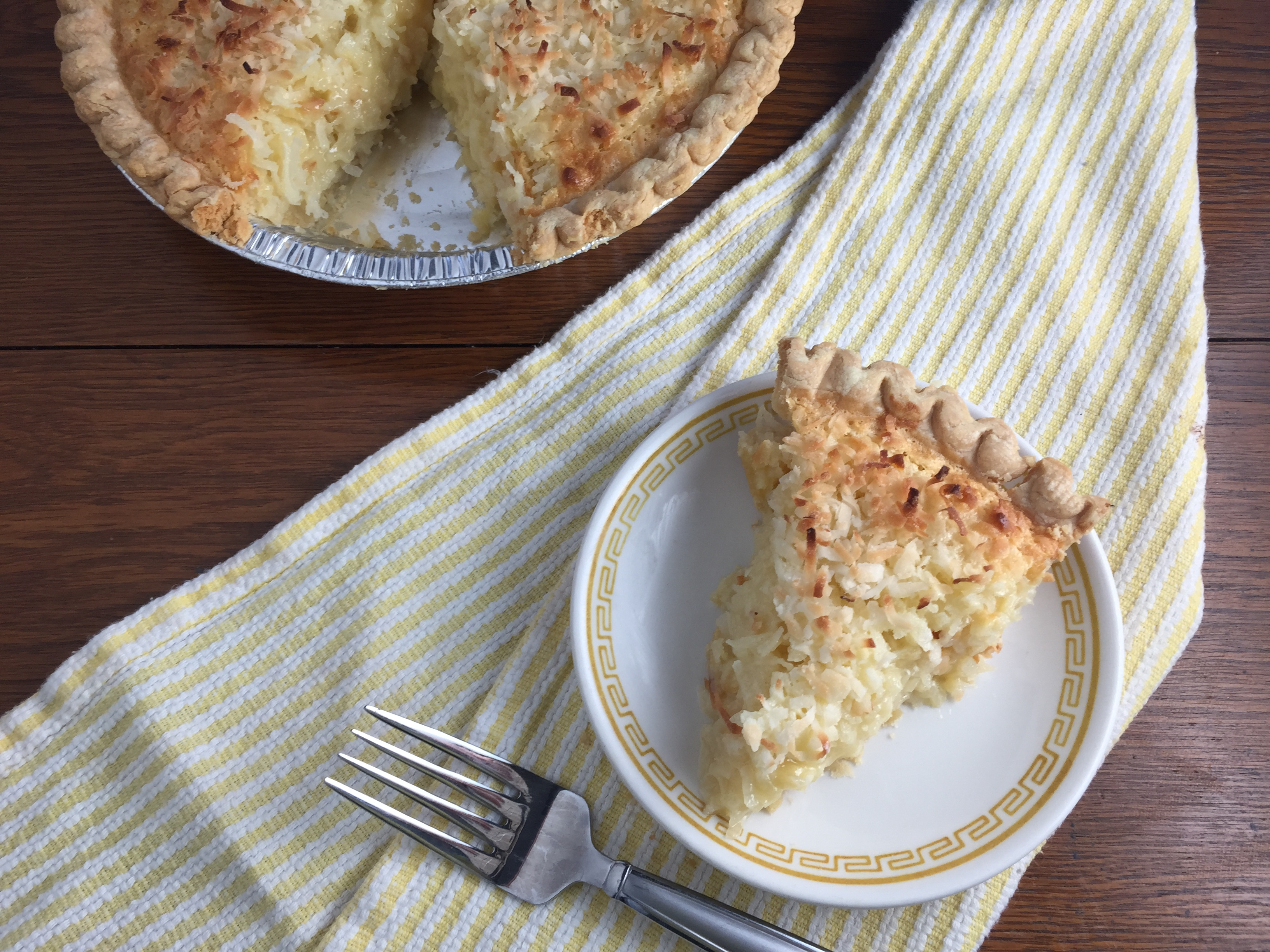 Coconut Macaroon Pie Cooking with Vinyl