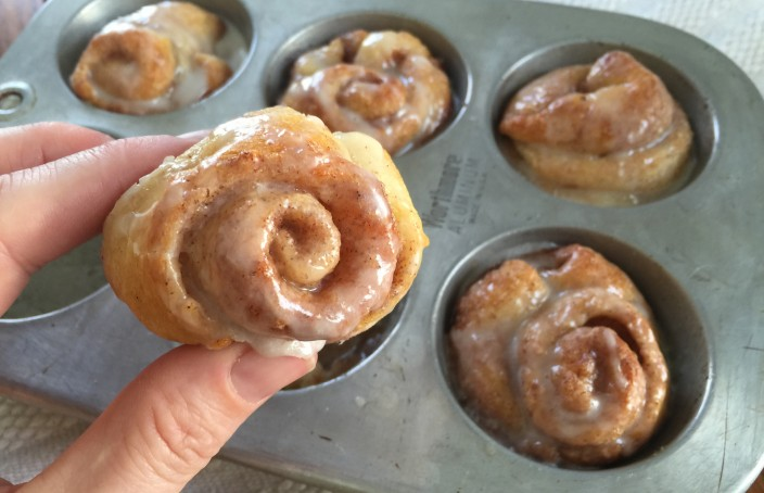 Mini Cinnamon Rolls Using Crescent Rolls Recipe