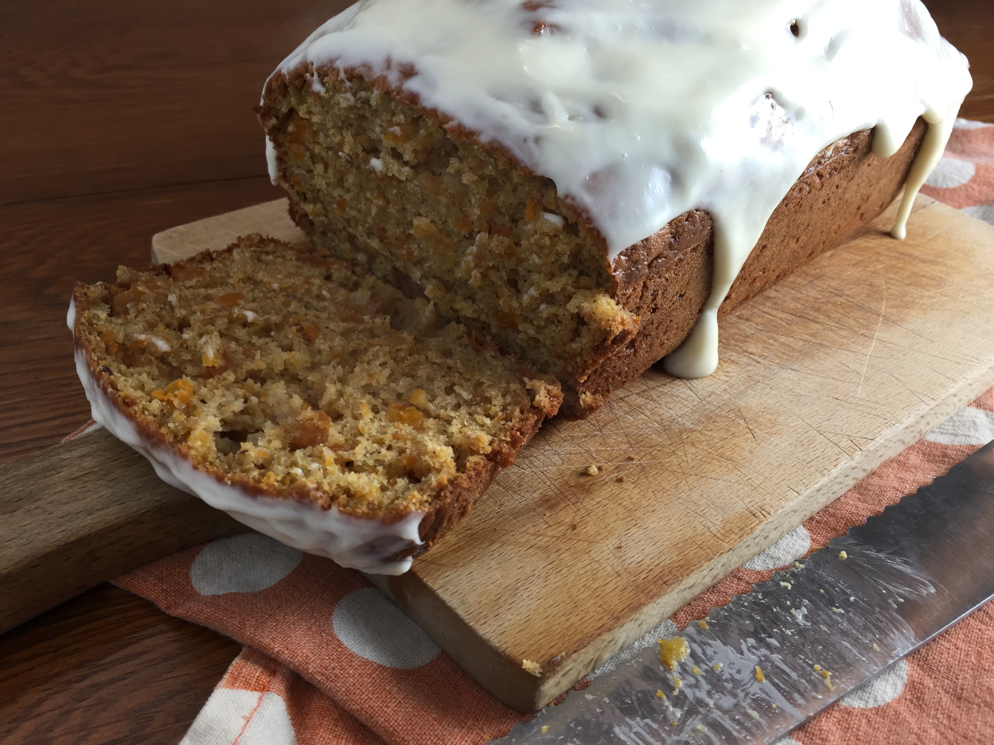 Butternut Squash Bread with cream cheese frosting recipe