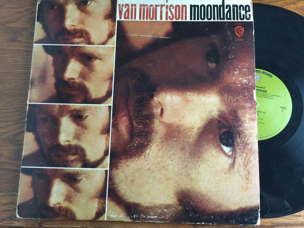 Van Morrison Moondance vinyl album LP