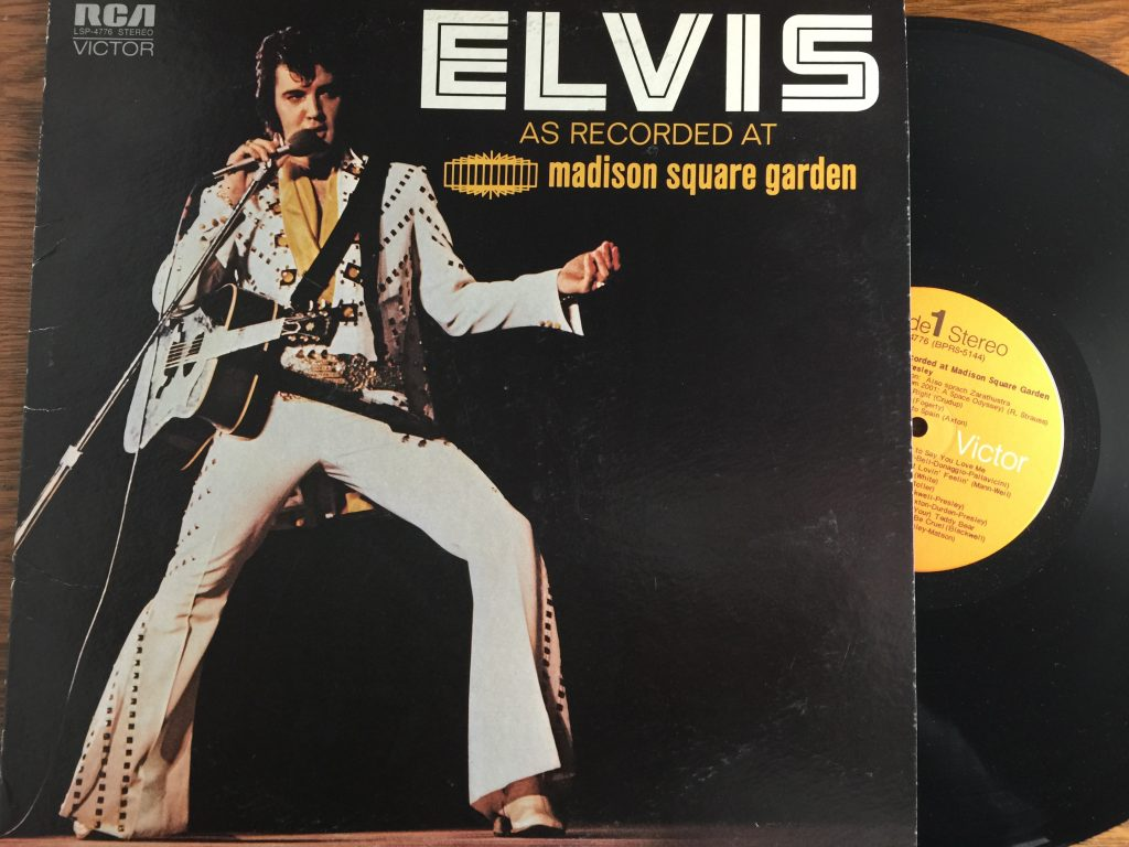 Elvis at Madison Square Garden vinyl record album