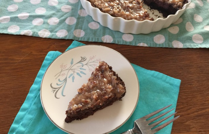 German Chocolate Tart recipe from CookingWithVinyl.com